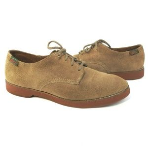 Vintage Bass Brown Leather Suede Lace Up Shoes